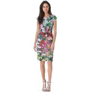 ISSA London NWOT US Sz 4 Floral Print Sheath Dress